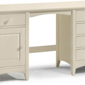 3-Julian-Bowen-Cameo-Off-White-Dressing-Table-Twin-Pedestal-1-Door-5-Drawers