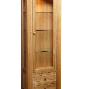 B312 - Bretange display cabinet with light - Side Angle