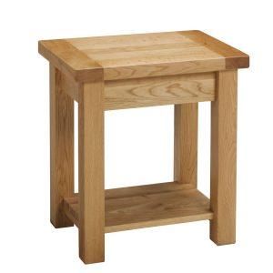 B319 - Lamp table with Shelf - side angle