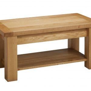 B320 - Coffee table with shelf - Side angle