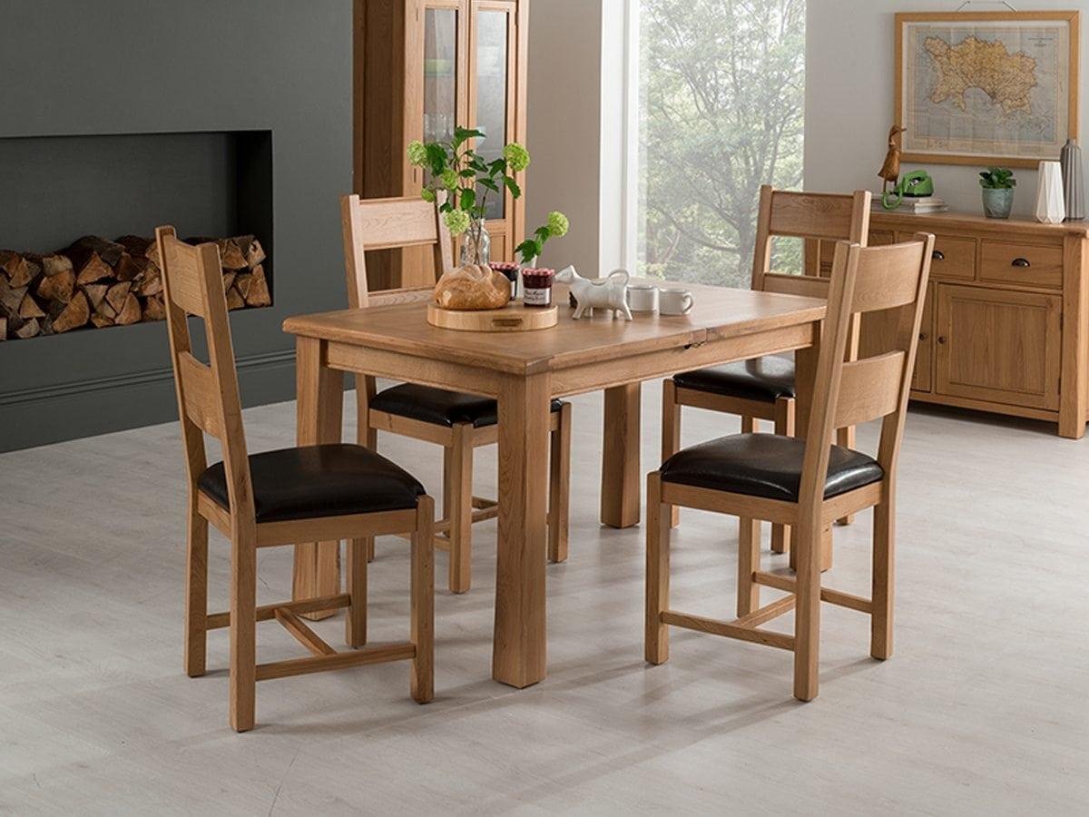 Blenheim 120cm Extending Table Amp 4 Chairs Portess