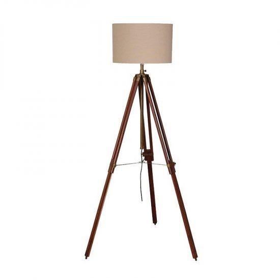Dark wood tripod floor lamp portess dark wood tripod floor lamp mozeypictures Images