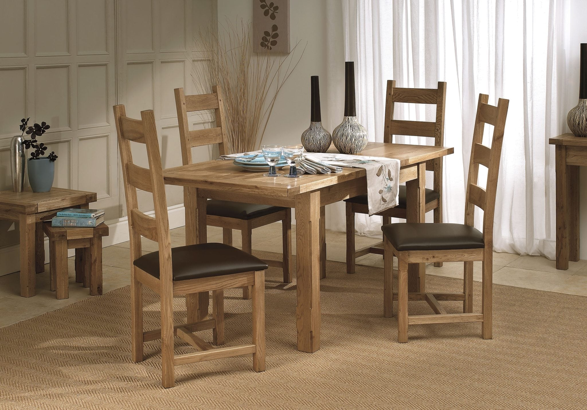 Wisteria Compact 122cm Extending Table 4 Chairs Portess