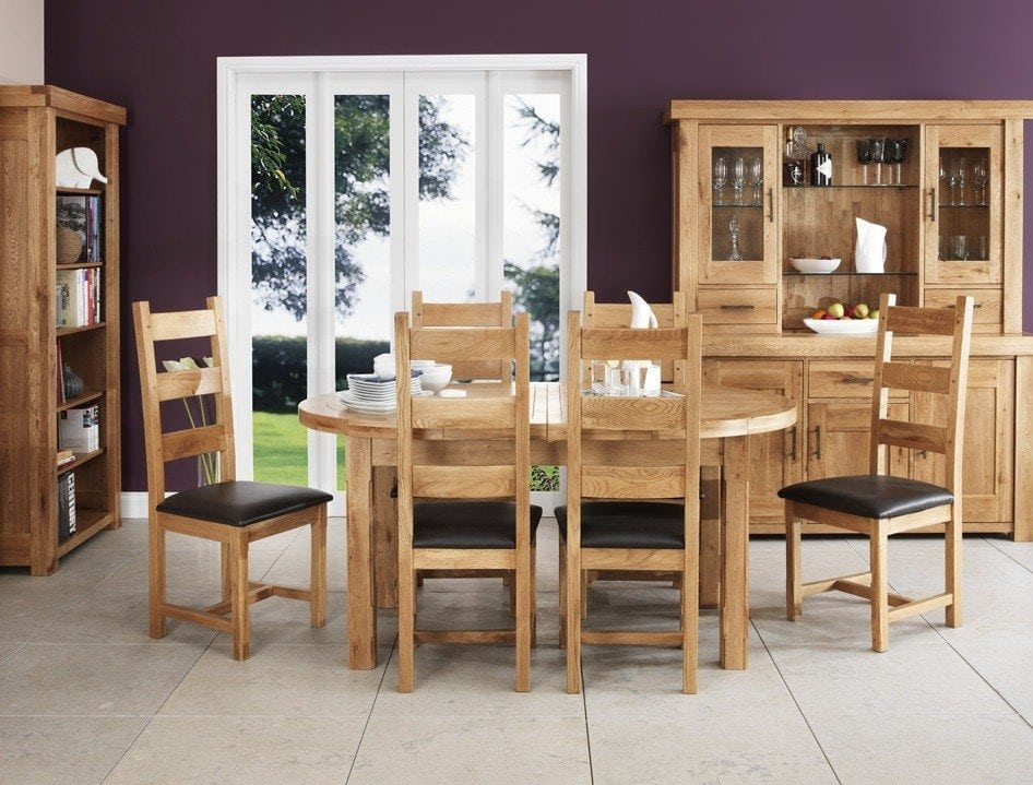 Wisteria 165cm Oval Twin Extending Table 6 Chairs Portess
