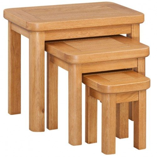 Epping Oak Nest Of Tables