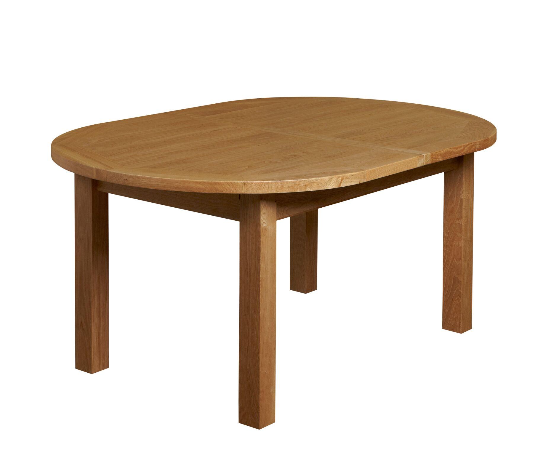 Brampton oak m extending oval table portess