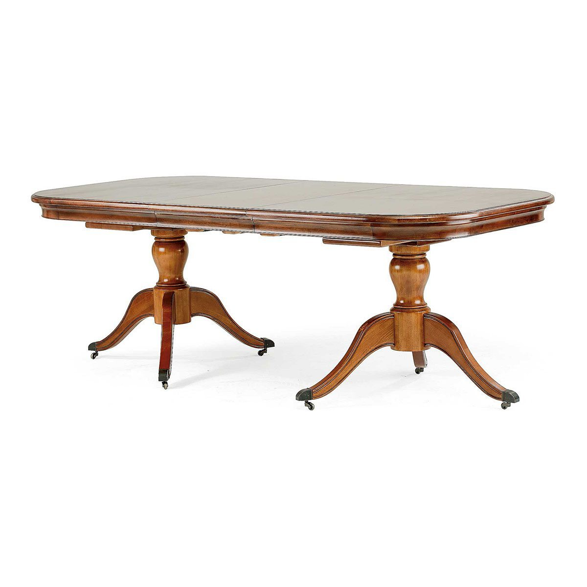 6 8 seater pedestal table portess for Dining room tables the range