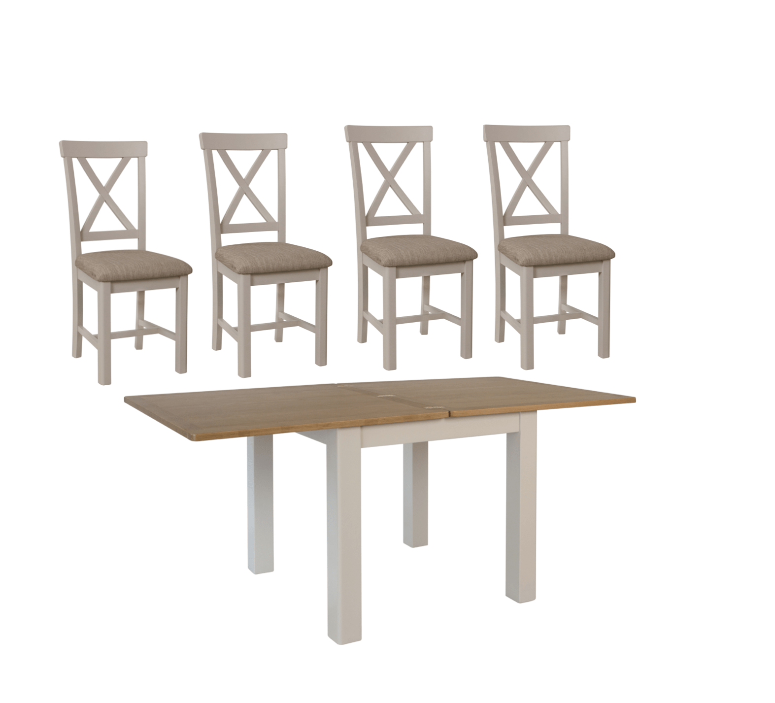 Picture of: Pickworth Two Tone Flip Top Table 4 Dining Chairs Portess