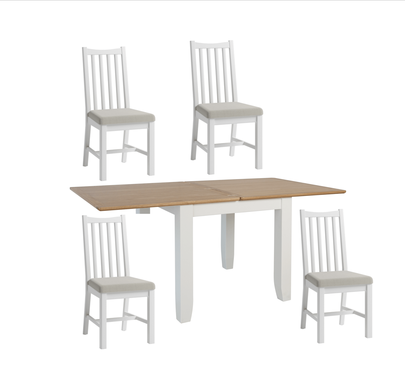 Picture of: Georgia Two Tone Flip Top Table 4 Dining Chairs Portess